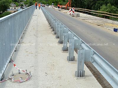Мостовое и перильное ограждение. Объект: Меловое. 2021 г